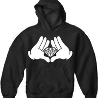 Diamond Cartoon Hand's Adult Hoodie #1452
