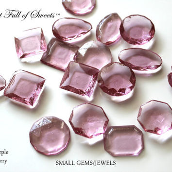 125 Edible Sugar Gems Jewels Barley Sugar Bite Sized Hard Candy 6.5 oz Cake Decor Cupcake Jewels