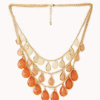FOREVER 21 Show Off Layered Teardrop Necklace