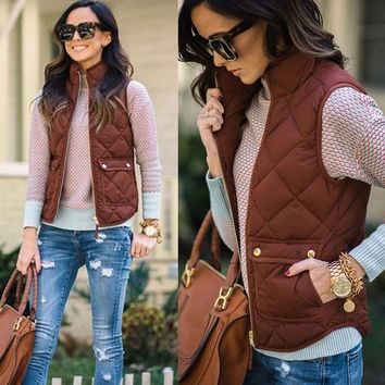 Trendy Quilt style vest coat jacket