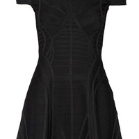 Hervé Léger - Paneled bandage mini dress