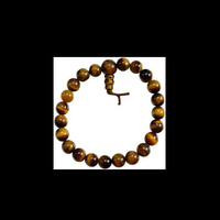 Tiger Eye Sphere Stone Power Bracelet