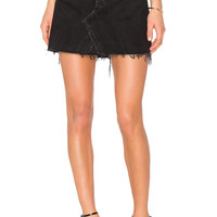 RE/DONE Levis High Waist Mini Skirt in Black