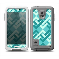 The Locking Green Pattern Skin Samsung Galaxy S5 frē LifeProof Case