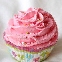 Watermelon Taffy Cupcake Bath Bomb