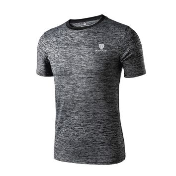 Short Sleeve T Shirt Fitness Men Bodybuilding Crossfit Compression Shirts Clothing Weight Lifting Male Tops Wear Sport Jerseys