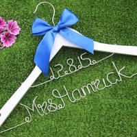 Date and name wedding hanger bridal hanger, personalized custom Bridal, Brides Hanger, Wedding Hanger, Personalized Bridal Gift.-in Event & Party Supplies from Home & Garden on Aliexpress.com | Alibaba Group