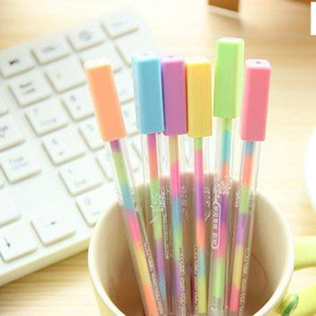New Cute candy Color style fluorescent pen / fasjion Style Color Highlighter / Wholesale