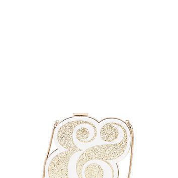 Kate Spade Wedding Belles Ampersand Clutch Gold ONE