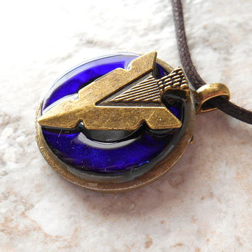 arrowhead necklace: royal blue - arrow necklace - arrowhead jewelry - mens necklace - mens jewelry - unique gift - fathers day - arrow head