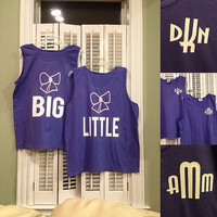 Comfort ColorsSorority Big Little Tank Top with Bow and Monogram