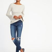 Rib-Knit Bell-Sleeve Sweater for Women | Old Navy