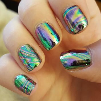 12 Colors/set Holographic Mirror Nail Foils
