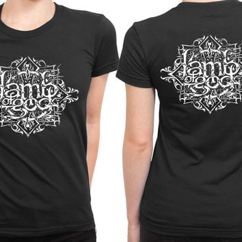 Lamb Of God Abstract Backgrund 2 Sided Womens T Shirt