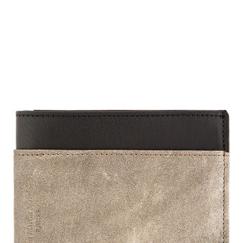 Maison Martin Margiela Black And Grey Contrast Leather Wallet