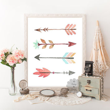 Arrows poster printable tribal arrows nursery decor printable wall art digital print art home decor wall art wall decor typography print