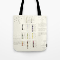 Werner's nomenclature of colour Tote Bag by anipani