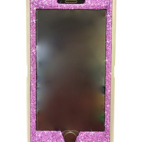 iPhone 6 Plus OtterBox Defender Series Case Glitter Cute Sparkly Bling Defender Series Custom Case grey / purple