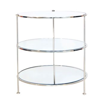 3 Tier Nickel Side Table by World's Away