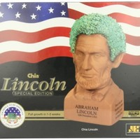Chia Abraham Lincoln Handmade Decorative Planter