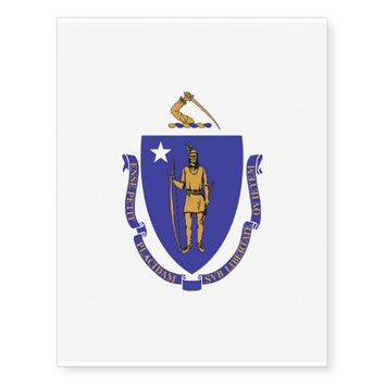 Patriotic temporary tattoos Flag of Massachusetts