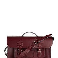 Upwardly Mobile Satchel in Oxblood - 15"