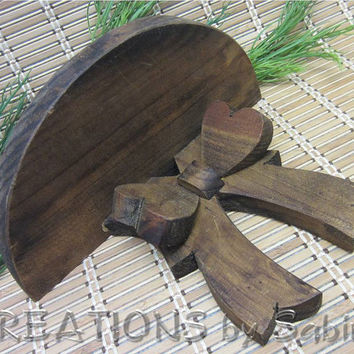 Wooden Half Circle Hanging Decoration Wall Shelf Vintage by CREATIONSbySabine