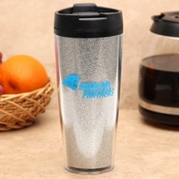 Carolina Panthers 20oz. Glitter Travel Tumbler - Silver