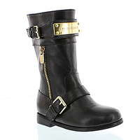 MICHAEL Michael Kors Girls' Dhalia Kloe Riding Boots - Black