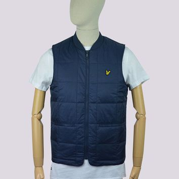 Lyle & Scott Quilted Gilet in Navy