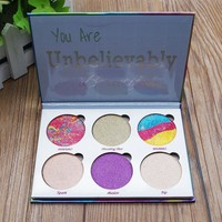 """""""You are unbelievable"""" 6-color Unicorn Eye Shadow [501352726543]"""