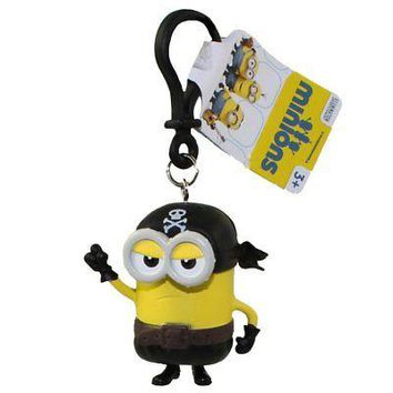 Minions Movie: Pirate Kevin PVC Figurine Backpack Clip Keychain