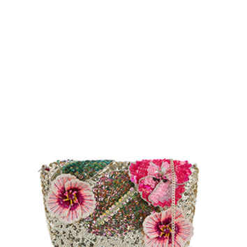 Accessorize | Tropical Sequin Across Body Bag | Gold | One Size