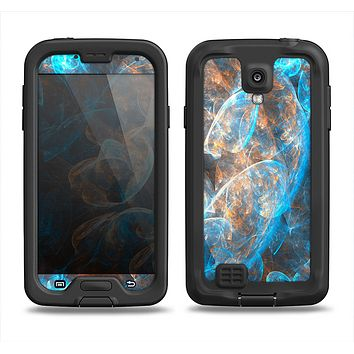 The Blue and Yellow Vivid Fumes Samsung Galaxy S4 LifeProof Nuud Case Skin Set