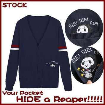 DCCKH6B [Stock]2017 NEW Game OW Reaper Cardigan Knitwear Pocket Sweater SS Wear S-XL Hot sale free shipping
