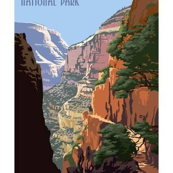 North Kaibab Trail - Grand Canyon National Park Art Print by Lantern Press at Art.com