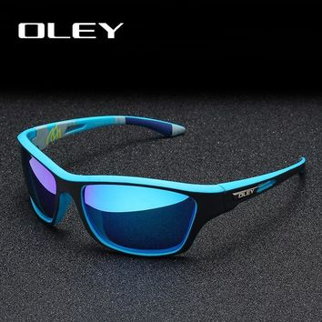 OLEY Polarized Sunglasses Men's Driving Shades Outdoor sports For Men Luxury Brand Designer Oculos YG202