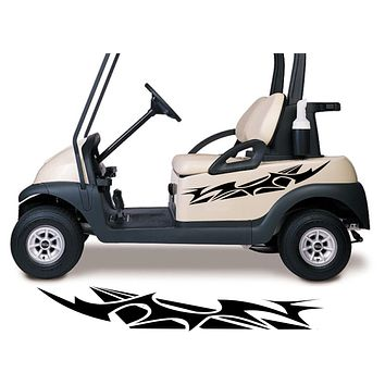 Golf Cart Go Kart Decals Side By Side Stickers Graphics Tribal Flames Stripes GG10