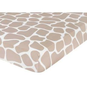 Sweet Jojo Designs Giraffe Fitted Crib Sheet - Print