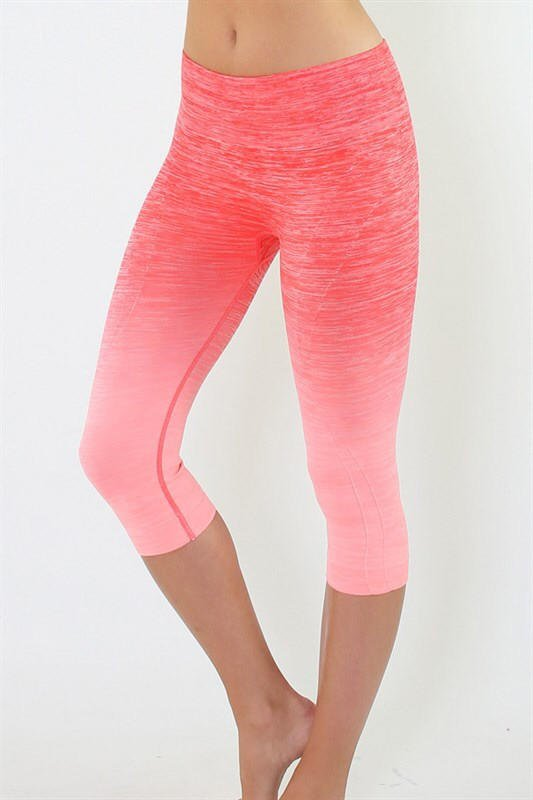 de9175d1ad Yoga Capri Pants - Coral and Pink from Blue Chic Boutique | sport