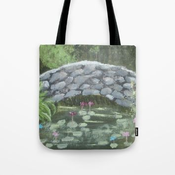 Forest Bridge Tote Bag by Lindsay