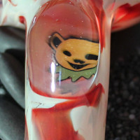 Dancing Bear changing Glass pipe American Made