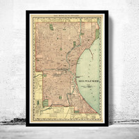 Old Map of Milwaukee 1898