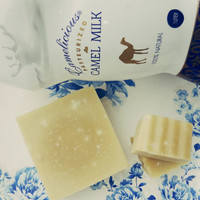 Handmade camel milk soap bar with lavender and lemon, Natural Handmade Camel milk soap