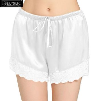 Women Sleep Wear Shorts Elastic Waist 100%  Real Silk 22 Momme