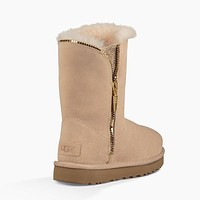 UGG Women Fur Zipper Winter Half Boots Shoes