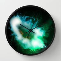 Green Alien Jellyfish from Outer Space Wall Clock by Christine Aka Stine1