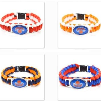 2017 New Basketball Bracelet New York Knicks Charm Braided Bracelet for Men Women  Sport Bracelet Jewelry Gifts