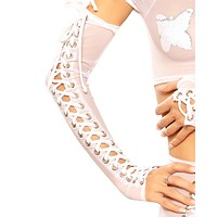 Tie Me Up Lace-up Opera Gloves