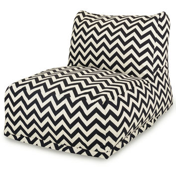 Black Chevron Bean Bag Chair Lounger